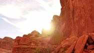 Stock Video Footage of 4K Arches Timelapse 04 Sunset at Park Avenue Utah USA