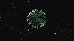 Holiday Color Fireworks Stock Footage