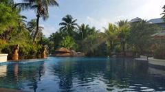 Hotel Resort Pool - Luxury Holiday Stock Footage