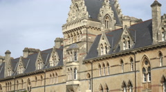 Zoom out, the meadow building, christ church, oxford university, england Stock Footage