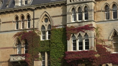 the meadow building, christ church, oxford university, england - stock footage