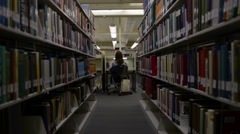 Student Library Dolly - stock footage