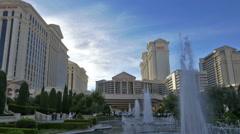 Caesars Palace Hotel and Casino - Las Vegas Nevada Stock Footage