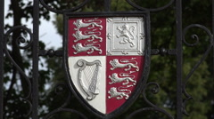 Coat of arms and badge, christ church college, oxford university, england Stock Footage