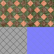 Stock Illustration of floor tiles seamless generated texture (with diffuse, bump and normal map)