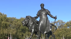 The Queen Victoria Memorial outside Buckingham Palace, London, UK. Stock Footage