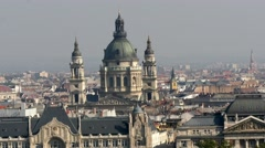 St. Stephen's Basilica cathedral in Budapest 4K Stock Footage