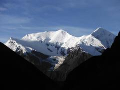 White Himalayan peaks in Annapurna region Stock Photos