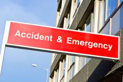 accident and emergency - stock photo