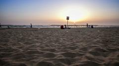 Tel aviv city beach in the evening - DSLR time lapse Stock Footage