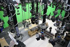 Green Screen Studio Stock Photos