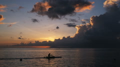 Kayaker on the ocean Stock Footage