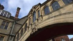 Pan, bridge of sighs, oxford, england Stock Footage