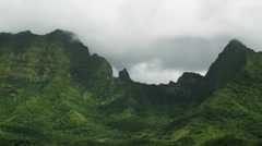 Tropical mountains Stock Footage