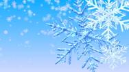 Stock Video Footage of Big Christmas Snowflakes.
