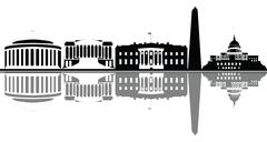Washington skyline Stock Illustration