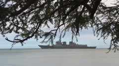 Ships Depart for Sea Phase, RIMPAC 2014 Stock Footage