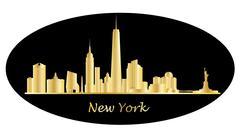 New york city skyline Piirros