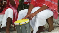 Pacific islanders playing instruments Stock Footage