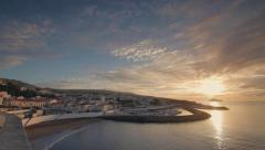 Sunrise in Angra do Heroismo, Azores, Terceira island Stock Footage