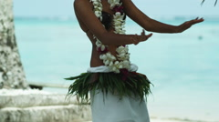 Pacific island dancer Stock Footage