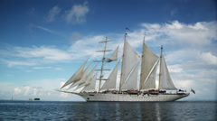 Sailing ship Stock Footage