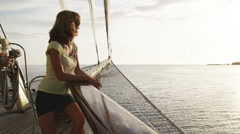 People on a yacht Stock Footage