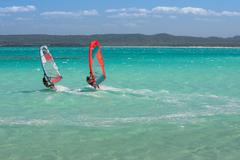 windsurfers - stock photo