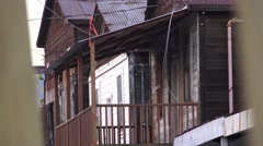 Early Chinese town of Locke, CA, history Stock Footage