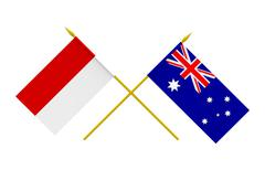 Stock Illustration of flags, australia and indonesia