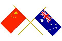 Stock Illustration of flags, australia and china