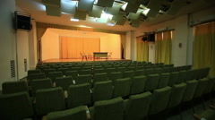 Empty concert hall before concert Stock Footage