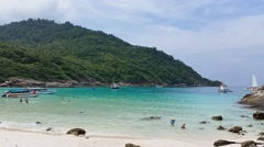 Tropical Beach Racha Island Stock Footage