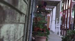 Early Chinese town of Locke, CA ,sidewalk Stock Footage