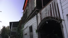 Early Chinese town of Locke, CA, old theater Stock Footage