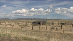 Land Use  Spring Abandoned Ranch Farm Stock Footage