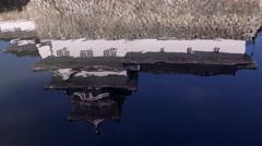 Reflection of Toyama Castle in Japan Stock Footage