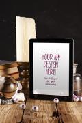 Halloween Tablet App Mock-up PSD Template