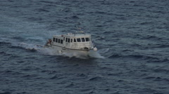 Mykonos Greece harbor master boat at sea HD 001 Stock Footage