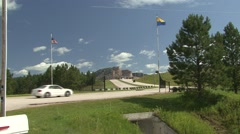 Land Use Black Hills Summer Crazy Horse Monument Zoom In Stock Footage