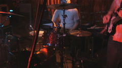 Band playing a concert Stock Footage