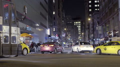 Busy Intersection Union Square Manhattan New York City NYC Slow Motion Traffic Stock Footage
