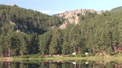 Recreation Black Hills Summer Camping Campground Lake Stock Footage