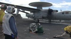 USS Ronald Reagan aircraft carrier flight operations Stock Footage