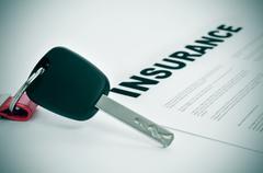 car insurance - stock photo