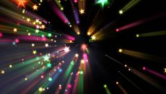 Holiday Fireworks - Colorful Sparkles In Light Rays - 02 Stock Footage