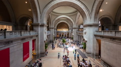 0516 Many visitors are spending there time in MET. Time Lapse - stock footage