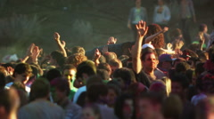 young people at a Hindu festival - stock footage