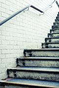 concrete steps - stock photo