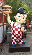 cibola county, new mexico - october 6, 2014: an antique bob's big boy mascot  - stock photo